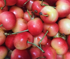 aesthetic, cherry, and fruit image