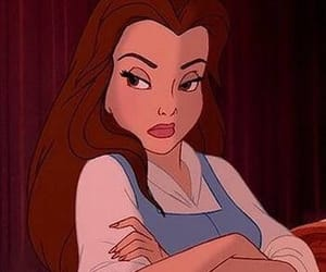 disney, belle, and mood image