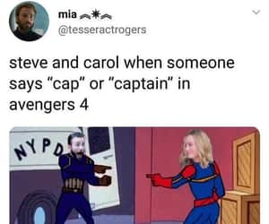 captain america, captain marvel, and Avengers image