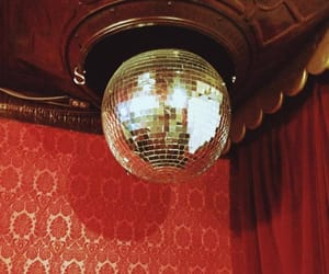 disco ball and red image