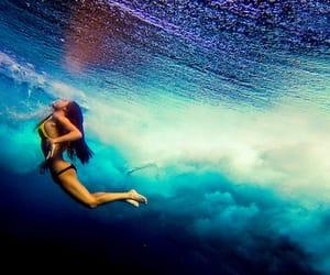 apnea, filter, and girl image