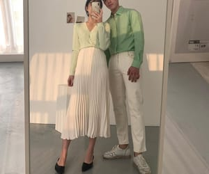 couple, green, and korean image