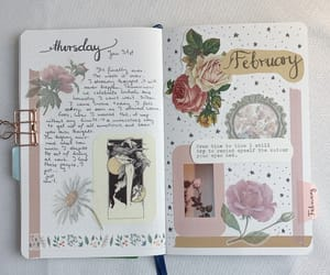 diary, spread, and journalling image