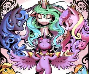 luna, pony, and princesses image