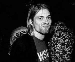 black and white, kurt cobain, and nirvana image