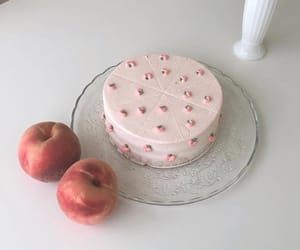 cake, aesthetic, and peach image