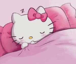 good night, hello kitty, and wallpaper image