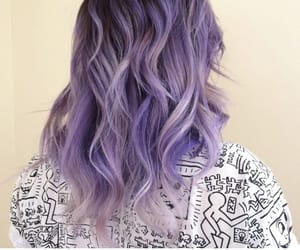 blue, hair, and hair style image
