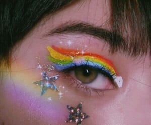 aesthetic, rainbow, and star image