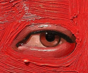 art, red, and eye image