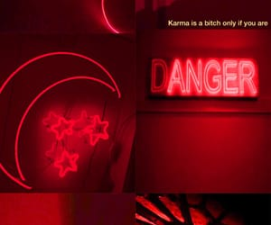 aesthetic, danger, and red image