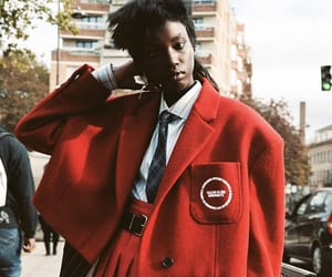 editorial, fashion, and red image
