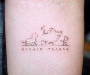 tattoo, hakuna matata, and disney image