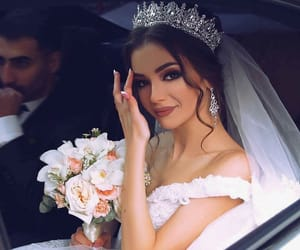 bride, wedding, and makeup image