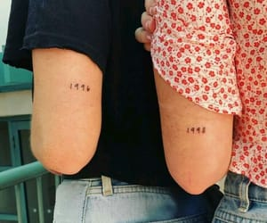 sisters, tattoo, and friends image