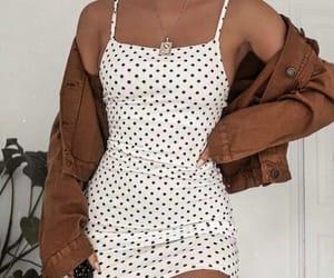 dots, girl, and fashion image