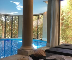 architecture, spa, and luxury image