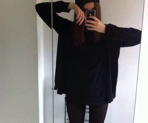 black, estilo, and girl image