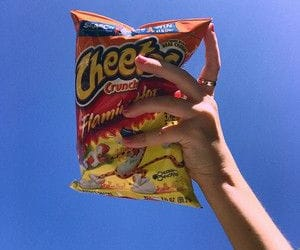 blue, sky, and cheetos image