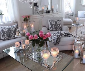 candles, Greys, and home image