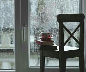 rain, book, and window image