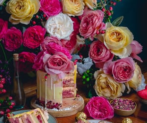 colorful, desserts, and flowers image
