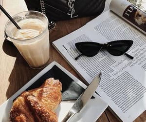 croissant, bag, and breakfast image