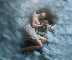 clouds, girl, and dreams image