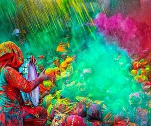 celebration, festival, and holi image