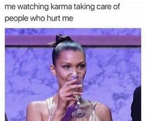 karma, meme, and bella hadid image