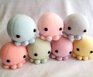 cute, octopus, and plush image