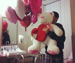 love, boy, and balloons image