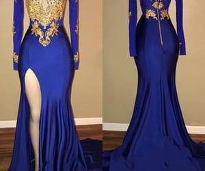 robe de soirée, mermaid evening dress, and royal blue evening dress image