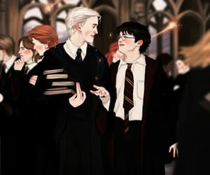 draco malfoy, study, and drarry image