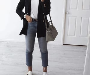 blazer, jeans, and casual image