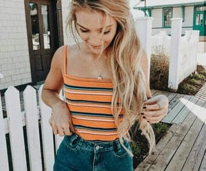 outfit, fashion, and blonde image