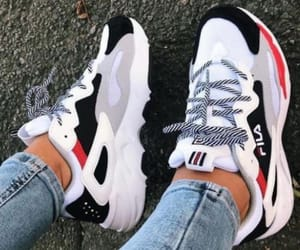 shoes, Fila, and girl image