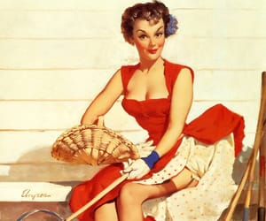 pin-up, spring time, and sexy image