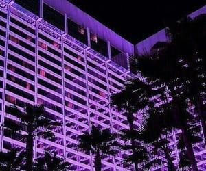 aesthetic, neon purple, and purple aesthetic image