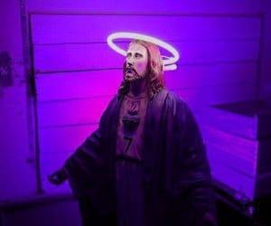 jesus, purple, and grunge image