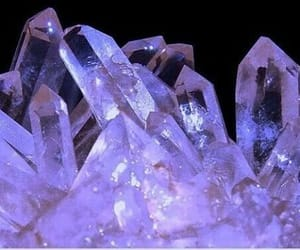 crystals, purple, and purple aesthetic image