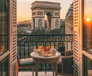 morning, paris, and travel image