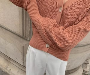 aesthetic, cardigan, and coral image