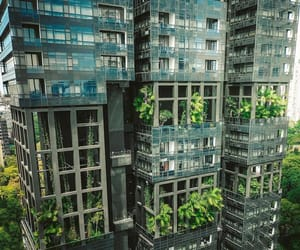 aerial photography, aesthetics, and apartment building image