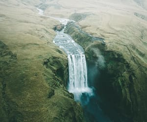 explore, iceland, and waterfull image