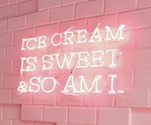 icecream, neon, and pink image