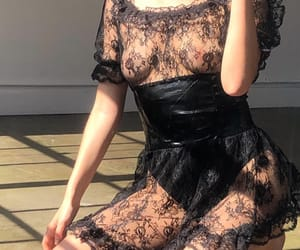 black lace, clothes, and explore image