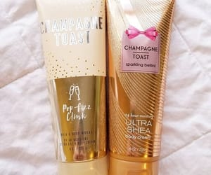 beauty, champagne, and bodycream image