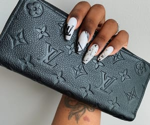 Louis Vuitton, nails, and tahzae dnae image