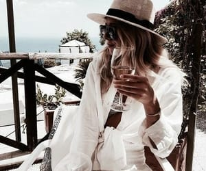 drink, fashion, and hat image